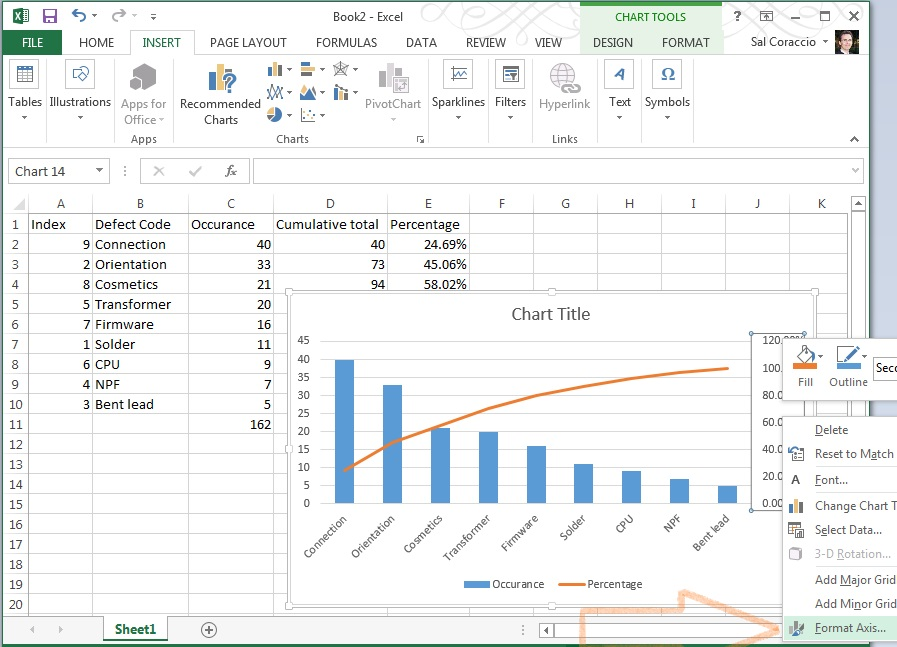 Pareto Chart In Excel 2013 How Tosday Qmsc